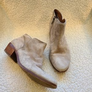 Sam Edelman Petty tan putty suede ankle booties